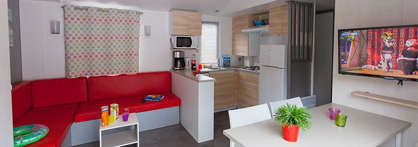 Chalet exclusive beschikt over ruime woonkamer geschikt voor 6 personen