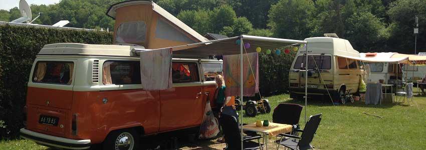 Camperplaats op camping in de Ardennen met camperservice plaats