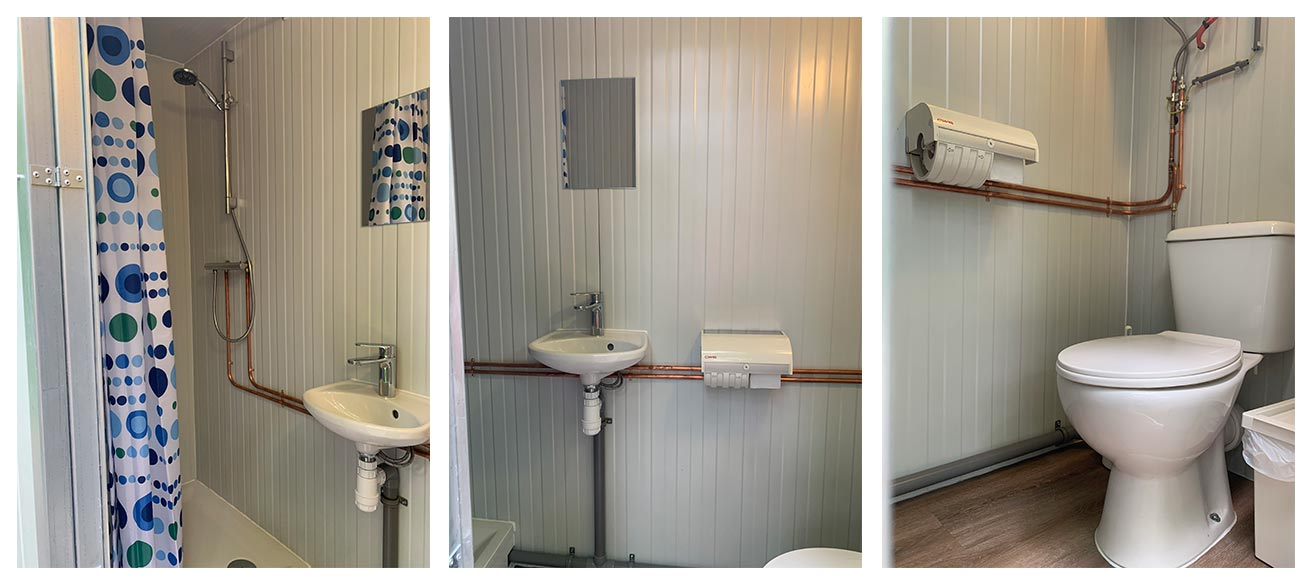 kampeerplaats met privé sanitair